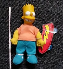 The Simpsons- Bart Simpson-1990 burger king doll/action figure w/skateboard
