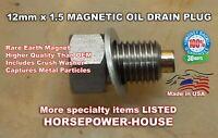 US Made 12mm MAGNETIC OIL DRAIN PLUG @ 2010-2021 Kawasaki Concours ZG1400 Ninja