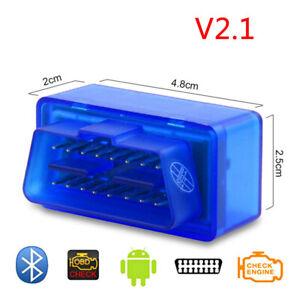 1 Pc Mini OBD2 ST Bluetooth 2.0 Scanner Clear Trouble Codes Display Sensor Data