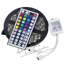 5M 5050 SMD RGB LED Flexible Strip Light 300leds 500CM + 44Key Remote Controller