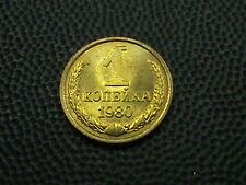 SOVIET UNION  -  RUSSIA     1  Kopek   1980    BRILLIANT  UNCIRCULATED