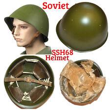 USSR Soviet Combat Steel Helmet SSH68 Russian Soldier Military Kaska Shlem Green