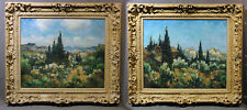 Pair of 20th Cen. Impressionist Oil Landscapes signed Marcel Parturier (French)