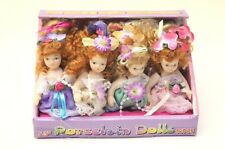 """WHOLESALE Job Lot 12 x 3.5"""" Porcelain Dolls in Lace Dresses With Jointed Limbs"""