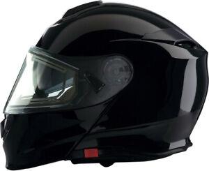 Z1R Adult Snowmobile Solaris Electric Shield Modular Flip Helmet Black XS-2XL