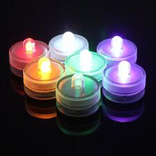 10pcs Mini LED Candle Light Waterproof Round Tea Lights Wedding Party Decoration