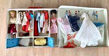 Vintage 1963 Barbie + Midge Doll Case with Clothes & Accessories