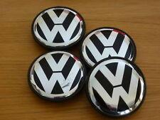 4x VOLKSWAGEN 70mm ALLOY WHEEL CENTRE CAPS.FITS MOST VW MODELS .7L6 601 149B