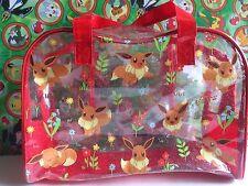 Pokemon Case Plastic Bag Purse Zipper Pouch I love Eevee (plush)