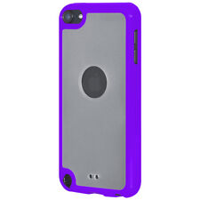 For iPod Touch 5/6 Gen SlimGrip Hybrid TPU Case Clear Back Cover -Cloudy/ Purple