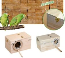 Us Wild Bird Parrot Box Wooden Finch Bird Nesting Box View Window Bird House S/M