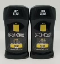 Axe Gold All Day Dry deodorant 2.7 oz exp. 10/2020 QTY 2