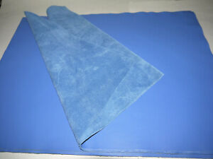"""Large Leather panels 4 pieces Top Quality Large 18"""" x 24"""" BLUE"""