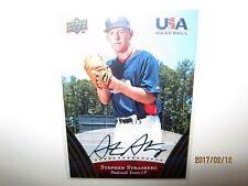 2008-09 Upper Deck USA Stephen Strasburg autograph 097/175 books $250.00