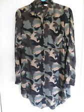 Ex H/&M Sleeveless camouflauge swing Top Smart Vest Size 8 10 12 14 16 XS-XL BN