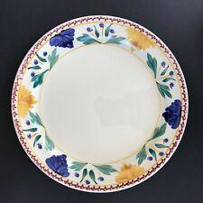 """Petrus Regout Stick Spatter Spongeware 11.75"""" Plate Platter Maastricht Holland"""