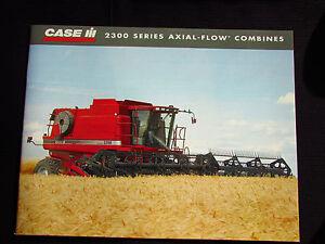 Case IH 2300-series Combines original sales brochure #CIH3260511