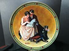 Norman Rockwell Knowles Plates Set/3 Young Girl Mothers Day Couples Commitment