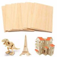 10pcs Wooden Plate Model Balsa Wood Sheets DIY House Ship Aircraft 150x100x2mm