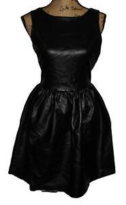 BAR III Women's Little Black Faux Leather tank Dress NEW tags Size M $80