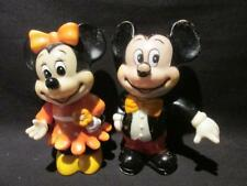 Mickey Mouse & Minnie Mouse Disney Vintage Rubber Banks Made in Korea