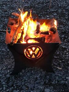 Vw splitty camper van portable flat pack fire pit.