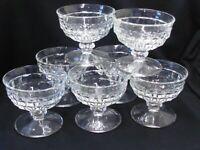 ( 7 ) Indiana Glass WHITEHALL CLEAR Sherbets / Sundae Bowls / Champagne  MCM