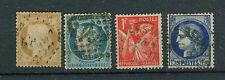 Frankreich Briefmarken 1938/42 Freimarken Mi. 378+80+95+400 gestempelt