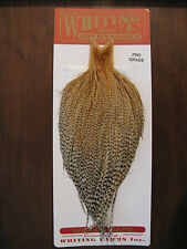 Fly Tying Whiting Pro Rooster Cape Barred Medium Ginger #E