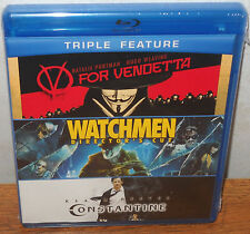V for Vendetta/Watchmen/Constantine (Blu-ray Disc 3-Disc Set) Triple Feature NEW