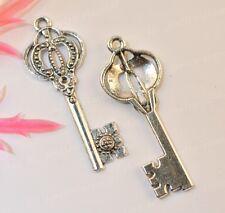 10pcs tibet silver key charms 43x16mm  JK1007