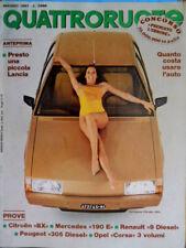 Quattroruote 331 1983 Prove Citroen BX, Mercedes 190, Opel Corsa [Q.33]