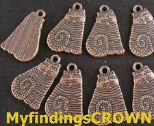 30PCS  Antiqued copper spiral sitting cat charms 20mm FC115