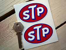 "STP OIL Classic STICKERS 3"" Pair Car Rcing Motorcycle Rally Bike Race Sports"