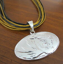 University of Missouri MIZZOU TIGERS LARGE PENDANT MULTI-CORD NECKLACE Jewelry