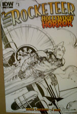 """ROCKETEER : HOLLYWOOD HORROR #1 Ret. Inc Cover 2013 """"Betty"""" Based On Bettie Page"""