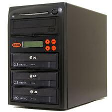 3 Burner Blu Ray CD DVD 16x Duplicator Copier M-disc Multi Duplication Copy BD