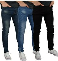 Mens Skinny Stretch Jeans Slim Fit Spandex Denim Pants All Waists