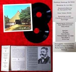 2 Singlefolien Fritz Reuter - DDR Rarität - 1974