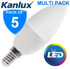 5x NEW Kanlux 6.5W T SMD E14 LED 4000k Candle Light Bulb Lamp 600lm Cool White