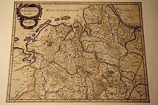Historische Landkarte Bremen Emden Wangerland Aurich Kloppenburg 1658