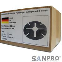 250 x Distanzscheiben 2 mm für höhenverstellbares Stelzlager Plattenlager