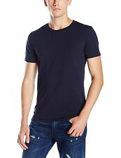 ARMANI JEANS BY GIORGIO ARMANI BACK EAGLE LOGO T-SHIRT. NAVY BLUE, MEDIUM, NEW