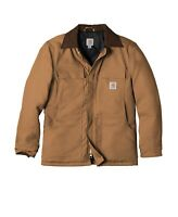Men's Carhartt Duck Traditional Winter Jacket Arctic Weight Size Large Brown