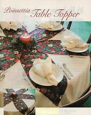Poinsettia Table Topper Quilt Pattern Pieced JD