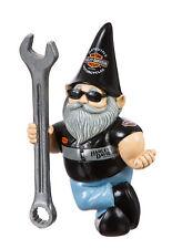 Harley Davidson Male Mechanic Biker Themed Polystone Garden Gnome Ornament