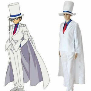 Détective Conan Kaito Kid Seifu Uniforme Cosplay Costume Déguisement Vêtement @