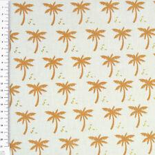 Jersey PALMERAIE Palmen hellblau braun 1,60m Breite