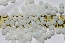 2/0 Tear Drop Czech Glass Seed Beads Fringe Drop Bead Pearl White AB /1oz