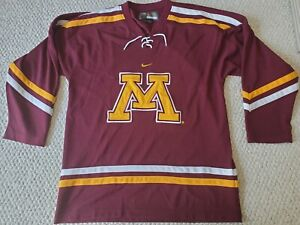 Minnesota Golden Gophers NCAA College Hockey Jersey Nike Bauer Mens Size L Used
